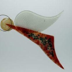 Glasengel Engel Flug dunkelrot Baum 3