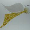 Glasengel Engel Flug gelb Barock 1