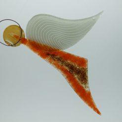 Glasengel Engel Flug orange braun 3