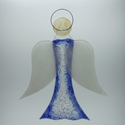 Glasengel Engel groß Kristall blau 3