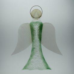 Glasengel Engel groß Kristall grün 1