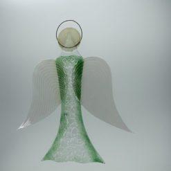 Glasengel Engel groß Kristall grün 2