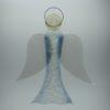 Glasengel Engel groß Kristall hellblau 1