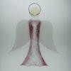 Glasengel Engel groß Kristall rosa 1