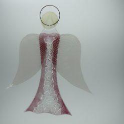 Glasengel Engel groß Kristall rosa 2