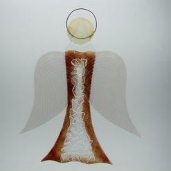Glasengel Engel groß Kristall rot 1