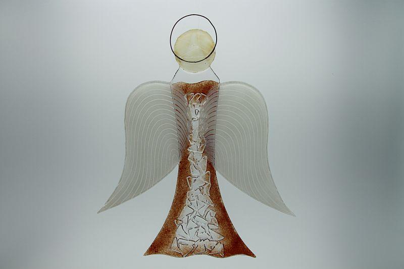 Glasengel Engel groß Kristall rot 3