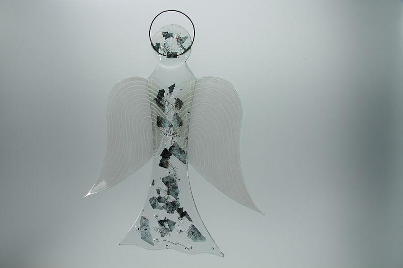Glasengel Engel groß Metall 2