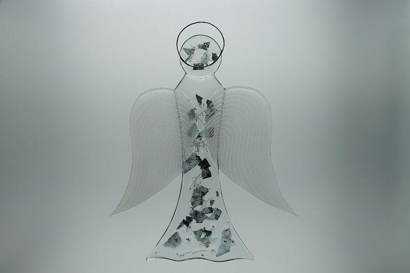 Glasengel Engel groß Metall 3