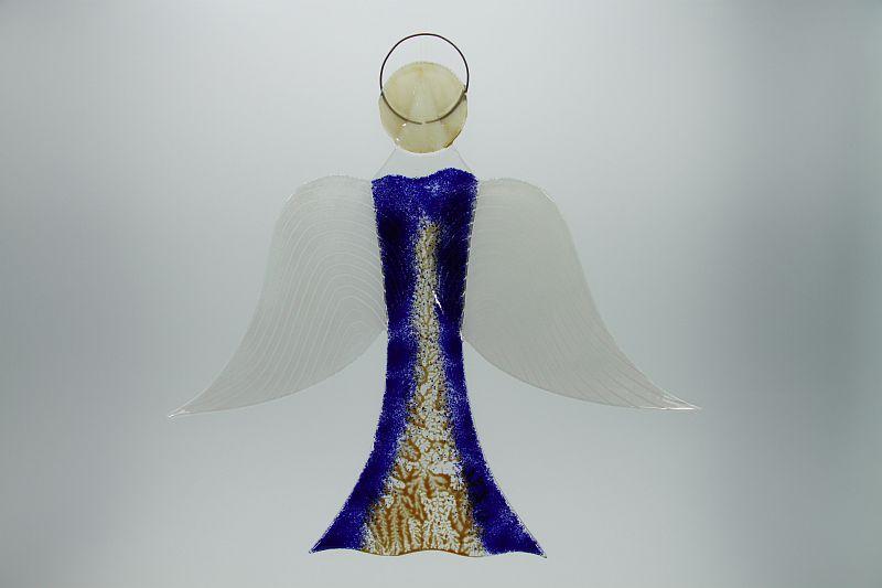 Glasengel Engel groß dunkelblau Baum 1