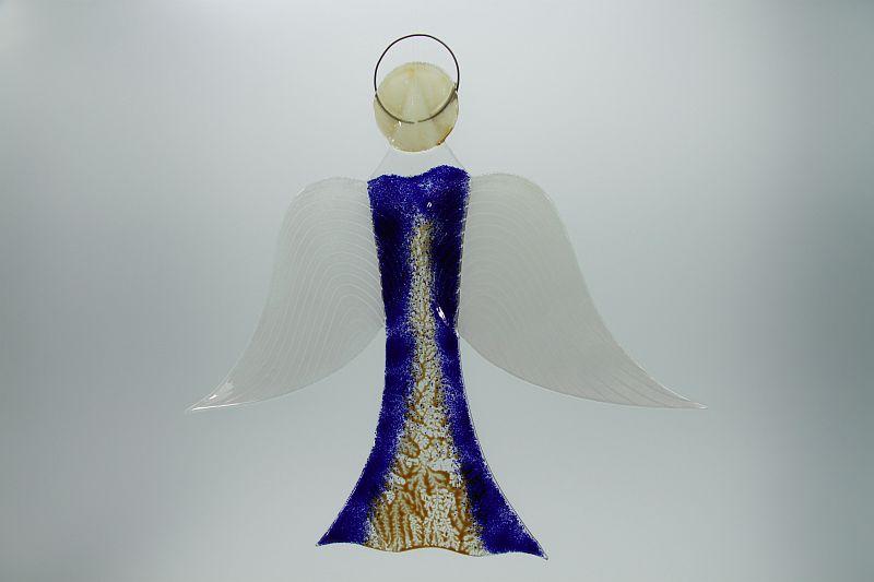 Glasengel Engel groß dunkelblau Baum 2