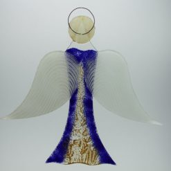 Glasengel Engel groß dunkelblau Baum 3
