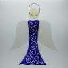 Glasengel Engel groß dunkelblau barock 1 1