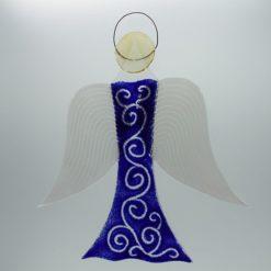 Glasengel Engel groß dunkelblau barock 1 2