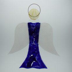 Glasengel Engel groß dunkelblau blau 1 1