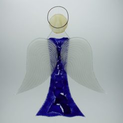 Glasengel Engel groß dunkelblau blau 1 3