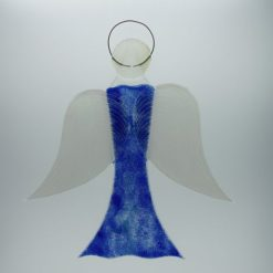 Glasengel Engel groß dunkelblau blau 3 1