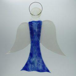 Glasengel Engel groß dunkelblau blau 3 2