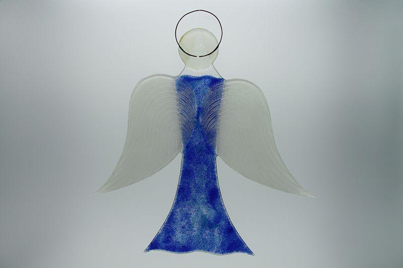 Glasengel Engel groß dunkelblau blau 3 3