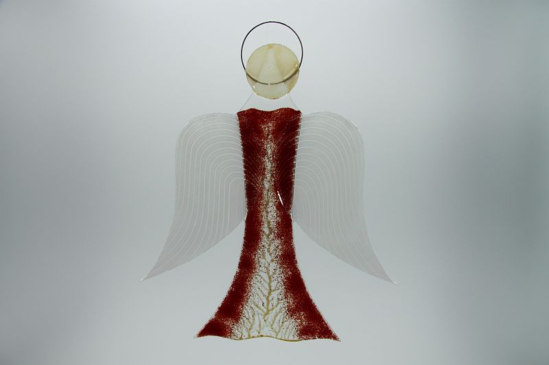 Glasengel Engel groß dunkelrot Baum 1 1