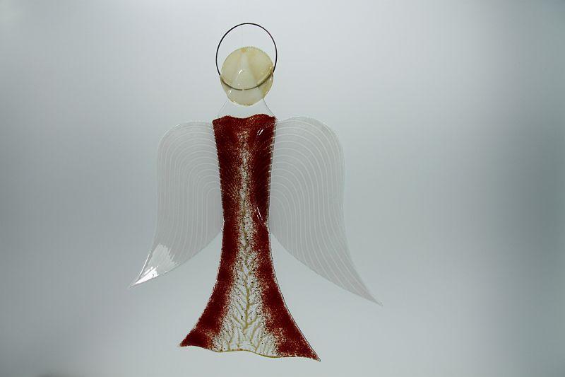 Glasengel Engel groß dunkelrot Baum 1 3