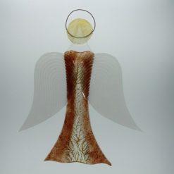 Glasengel Engel groß dunkelrot Baum 2 1