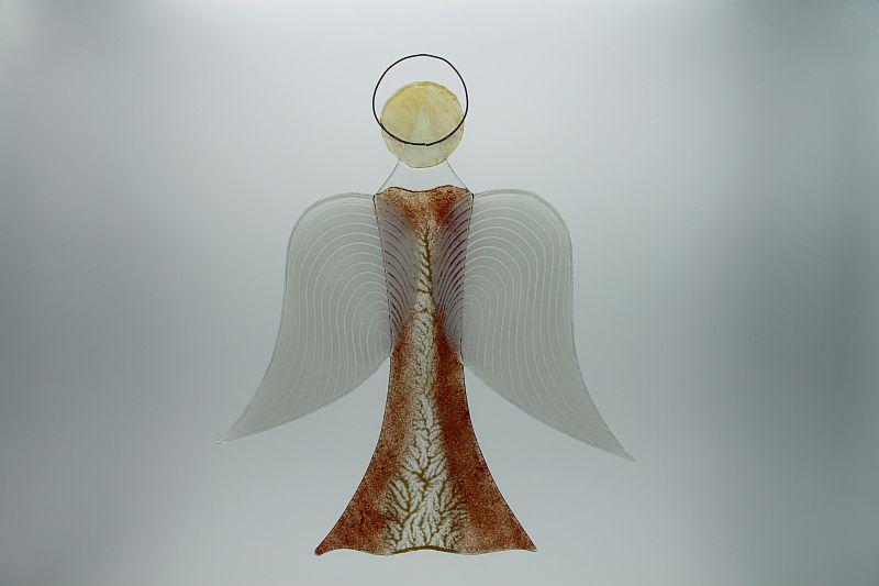 Glasengel Engel groß dunkelrot Baum 2 3