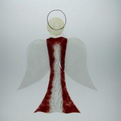 Glasengel Engel groß dunkelrot Baum 3 1
