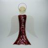 Glasengel Engel groß dunkelrot rose 1