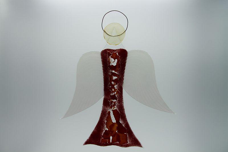 Glasengel Engel groß dunkelrot rot 1 1