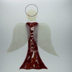 Glasengel Engel groß dunkelrot rot 1 3