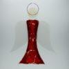 Glasengel Engel groß dunkelrot rot 2 1