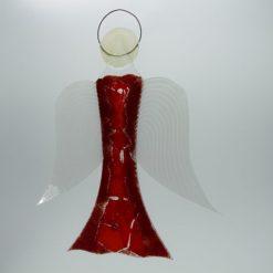 Glasengel Engel groß dunkelrot rot 2 2