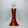 Glasengel Engel groß dunkelrot rot 3 1