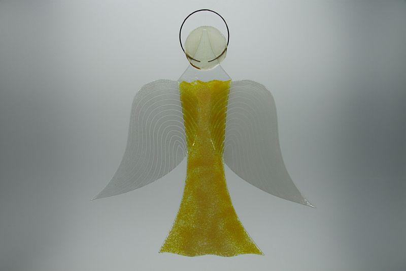 Glasengel Engel groß gelb 1
