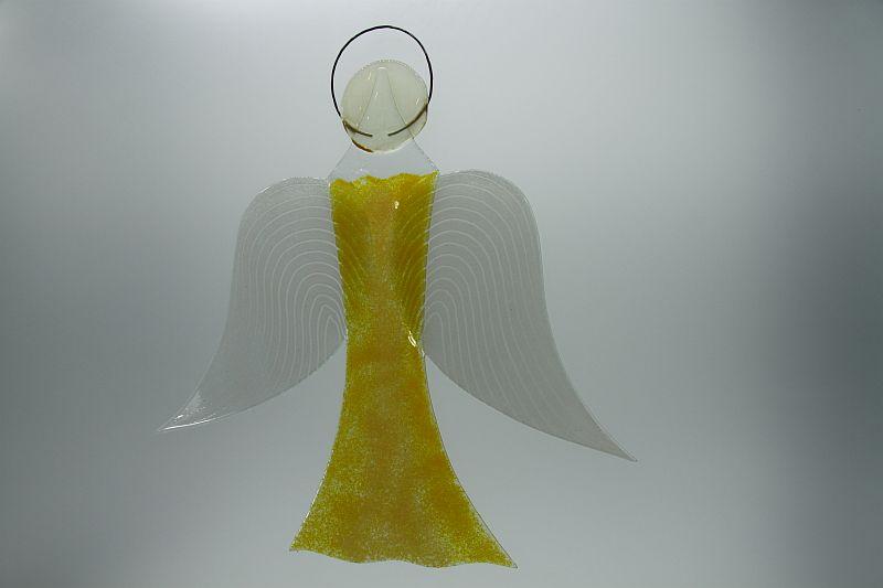 Glasengel Engel groß gelb 2
