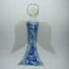 Glasengel Engel groß hellblau blau 1