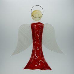 Glasengel Engel groß hellrot rot 1 1
