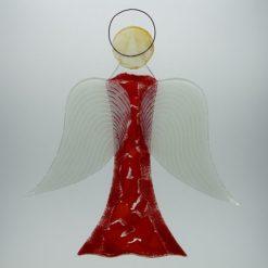 Glasengel Engel groß hellrot rot 1 3