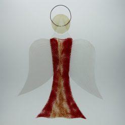 Glasengel Engel groß hellrot rot 2 1
