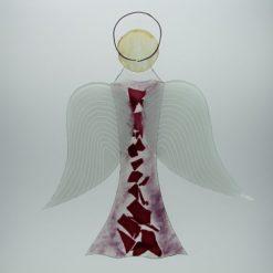 Glasengel Engel groß rose Baum rose 3