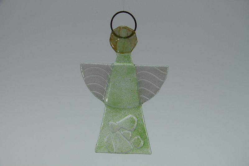 Glasengel Engel klein Kristall Grün 1