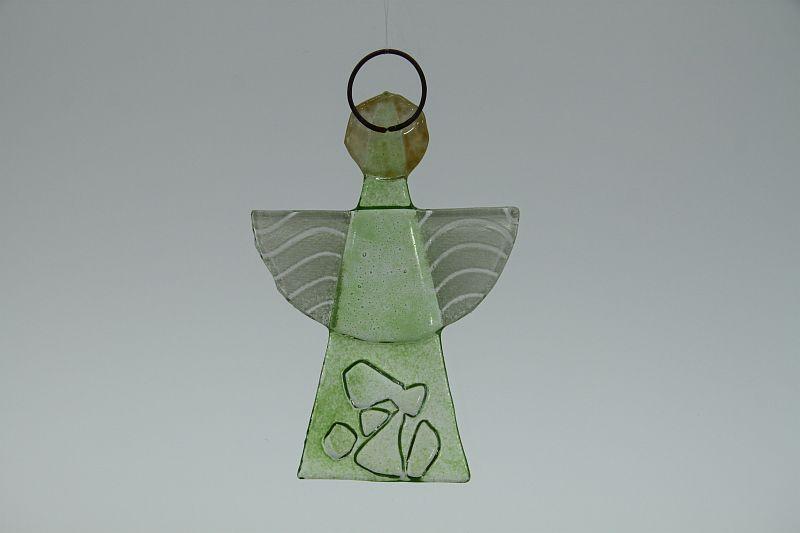 Glasengel Engel klein Kristall Grün 2