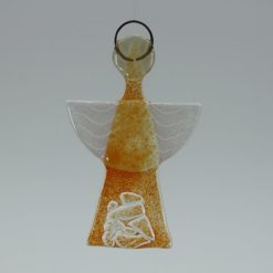 Glasengel Engel klein Kristall Orange 1