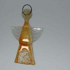 Glasengel Engel klein Kristall Orange 3