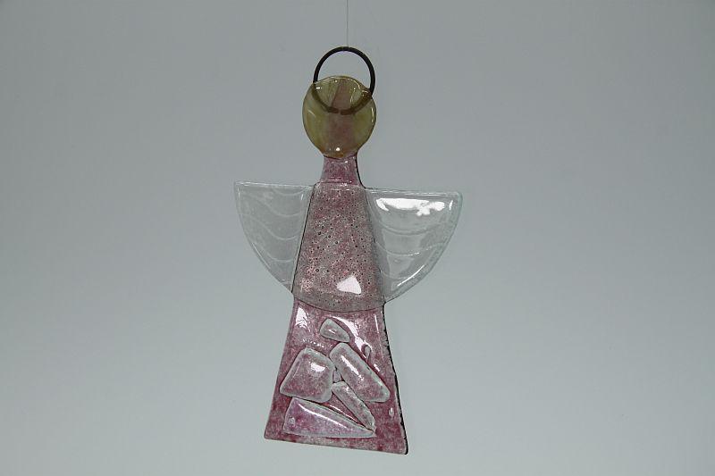 Glasengel Engel klein Kristall Rosa 3