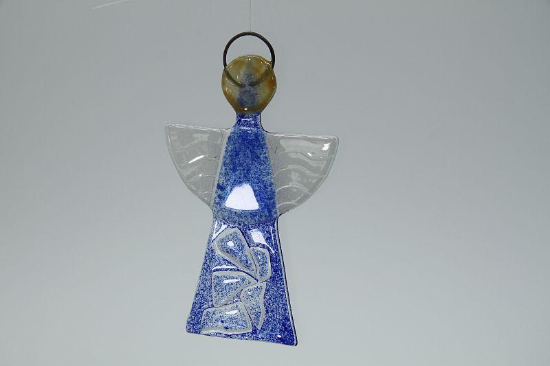 Glasengel Engel klein Kristall blau 3