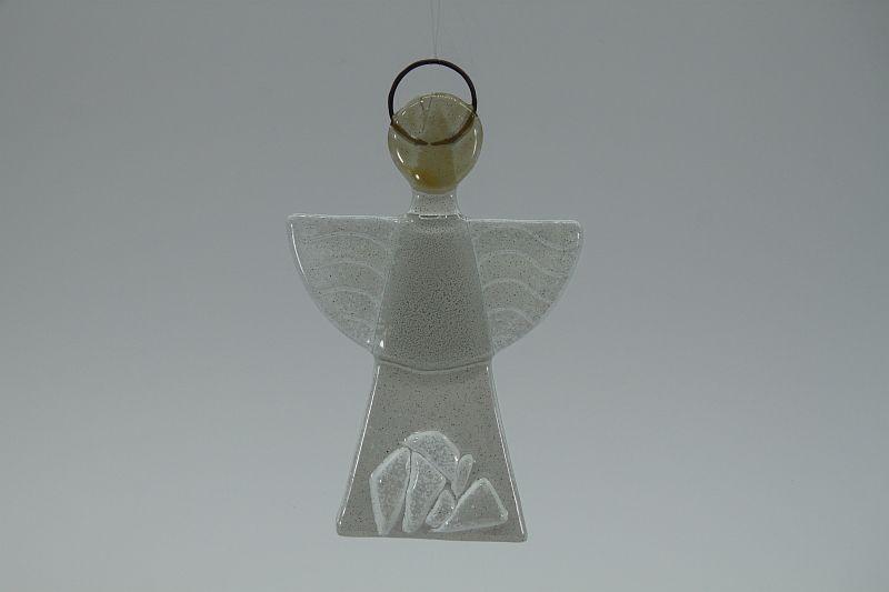 Glasengel Engel klein Kristall weiß 1