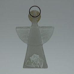 Glasengel Engel klein Kristall weiß 2