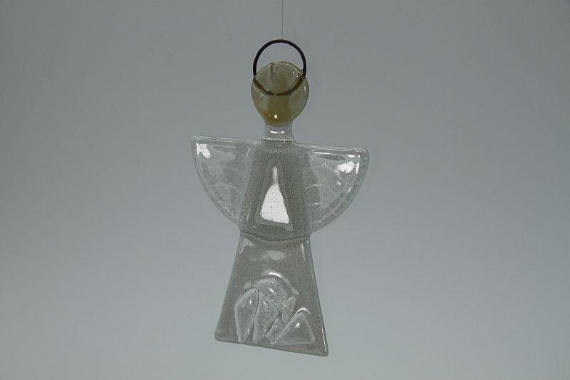 Glasengel Engel klein Kristall weiß 3